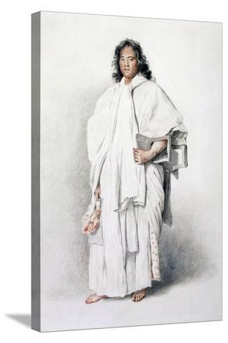 Portrait of Omai, Native of Ulaietea, Society Islands, Sent to London by James Cook--Stretched Canvas Print