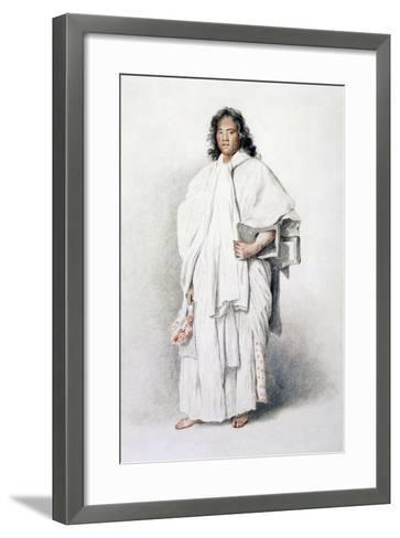 Portrait of Omai, Native of Ulaietea, Society Islands, Sent to London by James Cook--Framed Art Print