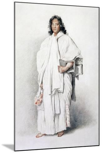 Portrait of Omai, Native of Ulaietea, Society Islands, Sent to London by James Cook--Mounted Giclee Print