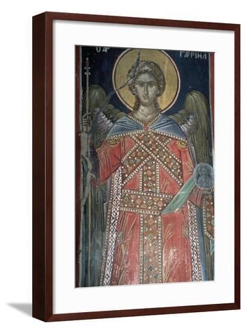 Saint, Fresco, Roussanou Monastery, also known as Agia Varvaras Roussanou Monastery--Framed Art Print