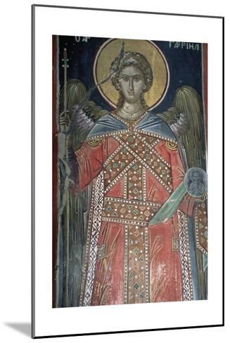 Saint, Fresco, Roussanou Monastery, also known as Agia Varvaras Roussanou Monastery--Mounted Giclee Print