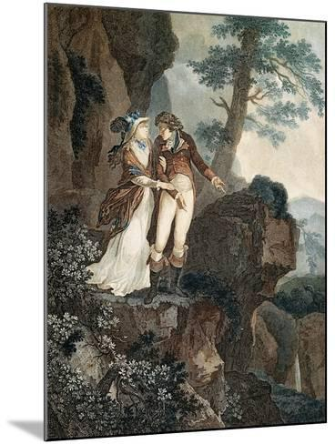 Meillerie's Rock, Illustration from Julie, or New Heloise by Jean-Jacques Rousseau--Mounted Giclee Print