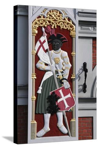 Soldier with Shield and Banner, Decoration from the House of the Blackheads--Stretched Canvas Print