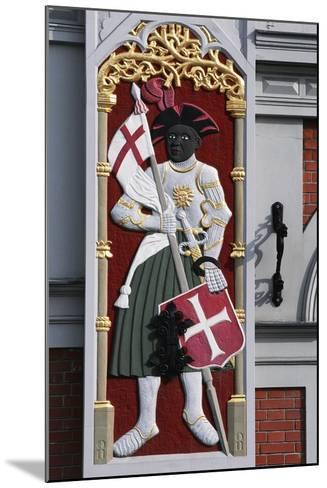 Soldier with Shield and Banner, Decoration from the House of the Blackheads--Mounted Giclee Print