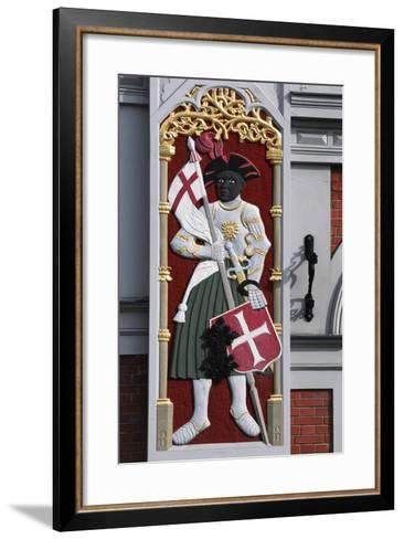 Soldier with Shield and Banner, Decoration from the House of the Blackheads--Framed Art Print