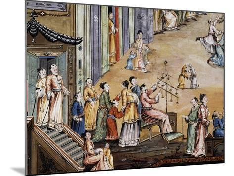 Party in a Square in a Chinese City, Fresco, Chinese Hall, Royal Palace of Portici--Mounted Giclee Print