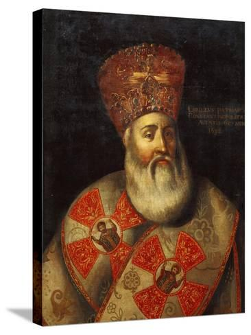 Switzerland, Geneva, Portrait of Patriarch of Constantinople, Cyril Lucaris--Stretched Canvas Print