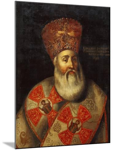 Switzerland, Geneva, Portrait of Patriarch of Constantinople, Cyril Lucaris--Mounted Giclee Print