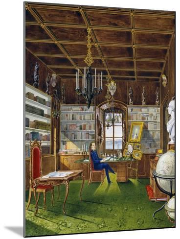 The Library in Villa Lazarovich, Trieste Residence of Maximilian of Habsburg--Mounted Giclee Print