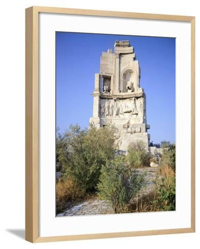 Gaius Julius Antioco Monument, also known with the Name of Philopappou, Athens--Framed Art Print