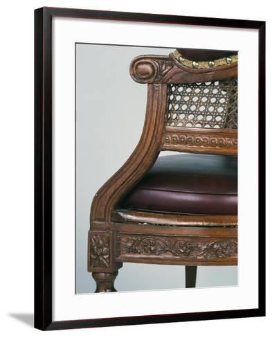 Louis XVI Style Beech Chair with Leather Seat, Stamped Demay, Jean-Baptiste Demay--Framed Art Print