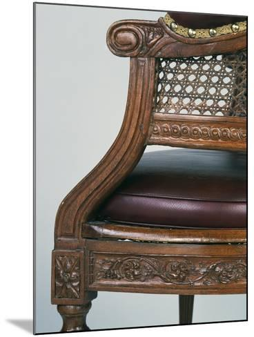 Louis XVI Style Beech Chair with Leather Seat, Stamped Demay, Jean-Baptiste Demay--Mounted Giclee Print