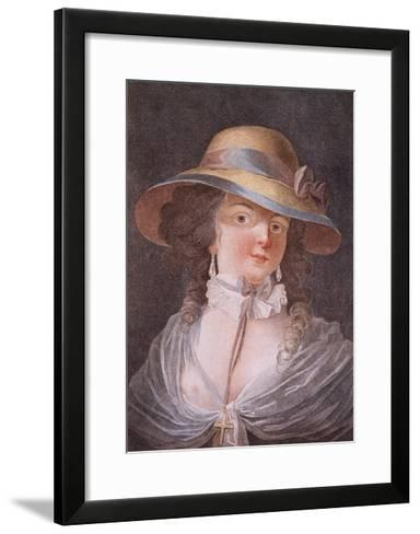 The Coquette, Illustration from 1872 for Dangerous Liaisons by Choderlos De Laclos--Framed Art Print