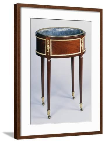 Oval Solid Mahogany Flower Box with Gilt Bronze Decoration, Stamped Conrad Mauter--Framed Art Print