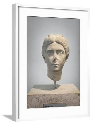 Portrait of Crispina, About 178 Ad, from Villa Adriana, National Museum of Rome--Framed Art Print