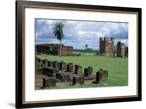 Ruins of Jesuit Missions of Most Holy Trinity of Parana and Jesus of Tavarangue--Framed Art Print
