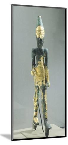 Bronze Statuette Representing Walking Male Figure, from Temple of the Obelisks, Byblos--Mounted Giclee Print
