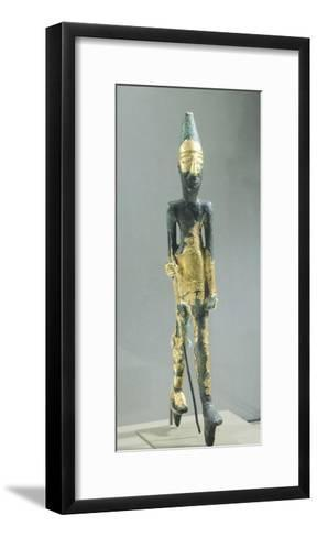Bronze Statuette Representing Walking Male Figure, from Temple of the Obelisks, Byblos--Framed Art Print