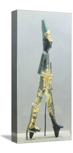 Bronze Statuette Representing Walking Male Figure, from Temple of the Obelisks, Byblos--Stretched Canvas Print