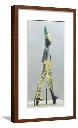 Bronze Statuette Representing Walking Male Figure, from Temple of the Obelisks, Byblos--Framed Art Print