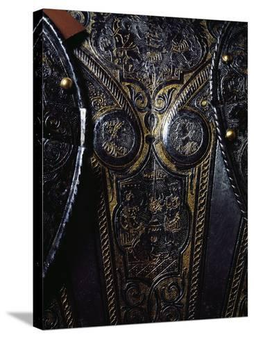 Detail from Breast Plate of Engraved and Gilded Armor, Work by Armourer Pompeo Della Cesa--Stretched Canvas Print