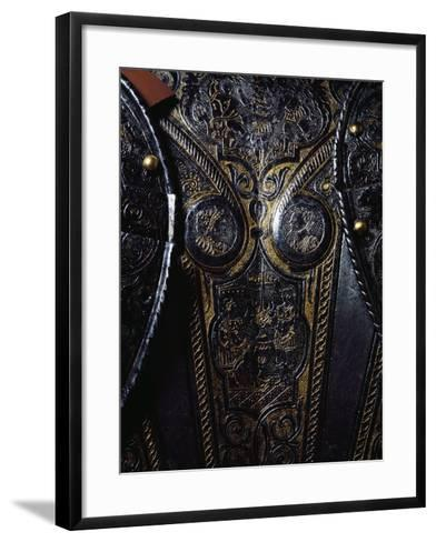 Detail from Breast Plate of Engraved and Gilded Armor, Work by Armourer Pompeo Della Cesa--Framed Art Print