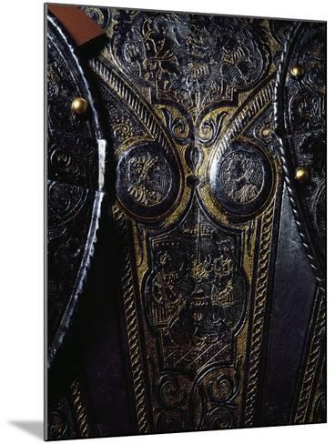 Detail from Breast Plate of Engraved and Gilded Armor, Work by Armourer Pompeo Della Cesa--Mounted Giclee Print