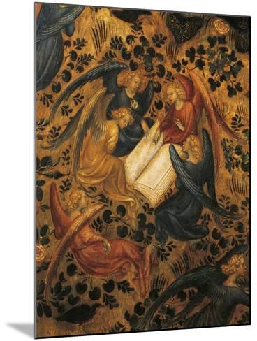 Angels Arguing, Detail from Madonna of Rose Garden, 1420-1435, Attributed to Stefano Da Verona--Mounted Giclee Print