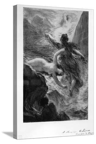 France, Paris, the Daughters of the Rhine Playing in the Waters by Henri Fantin-Latour--Stretched Canvas Print