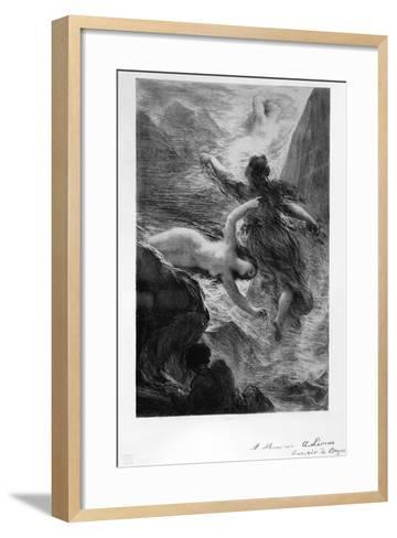 France, Paris, the Daughters of the Rhine Playing in the Waters by Henri Fantin-Latour--Framed Art Print
