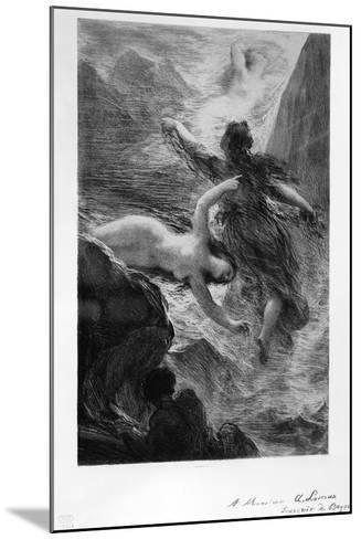 France, Paris, the Daughters of the Rhine Playing in the Waters by Henri Fantin-Latour--Mounted Giclee Print