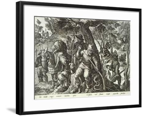 Plate from the Series Venationes Ferarum, Avium, Piscium, Fiandre--Framed Art Print