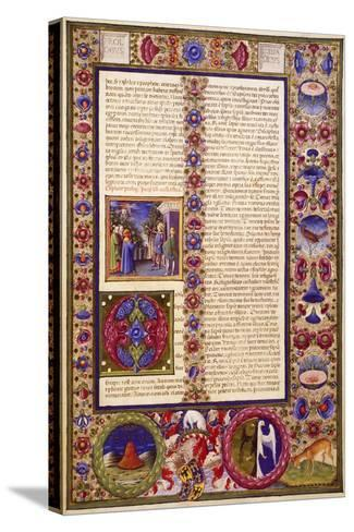 The Book of Sirach, from Volume I of Bible of Borso D'Este--Stretched Canvas Print