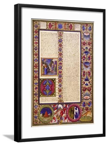 The Book of Sirach, from Volume I of Bible of Borso D'Este--Framed Art Print