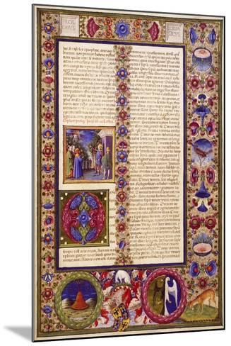 The Book of Sirach, from Volume I of Bible of Borso D'Este--Mounted Giclee Print