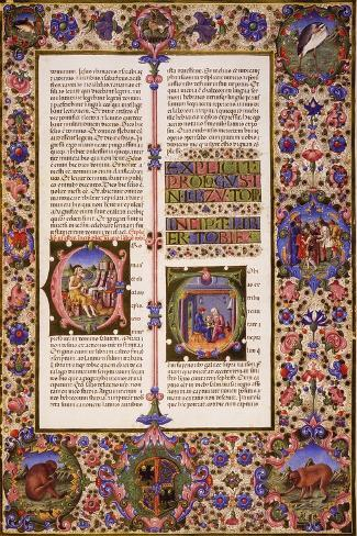The Book of Tobias, from Volume I of Bible of Borso D'Este--Stretched Canvas Print
