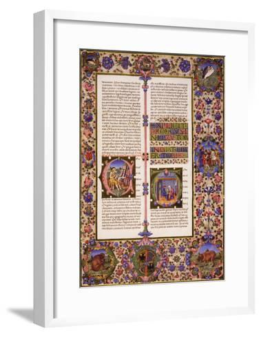 The Book of Tobias, from Volume I of Bible of Borso D'Este--Framed Art Print