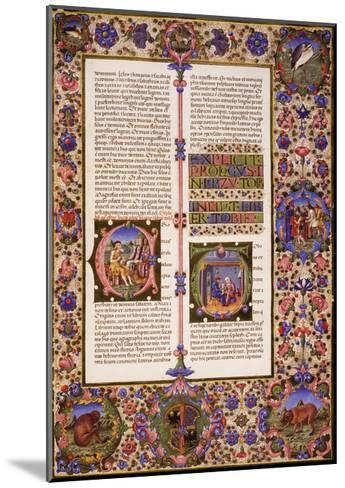 The Book of Tobias, from Volume I of Bible of Borso D'Este--Mounted Giclee Print