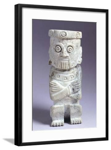 Green Stone Anthropomorphic Figurine Originating from the Temple Mayor of Tenochtitlan--Framed Art Print