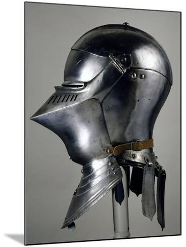 Helmet for Close Combat on Foot, 1490-1492, Which Belonged to Maximilian I of Habsburg--Mounted Giclee Print