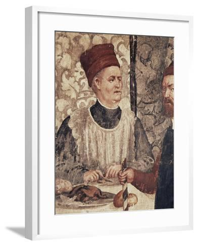Head Chef of Malpaga Castle or Food Taster, Detail from Fresco Attributed to Marcello Fogolino--Framed Art Print
