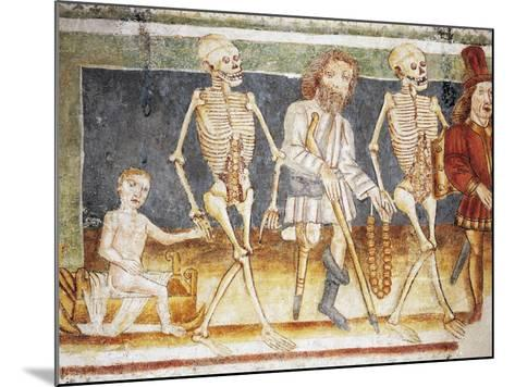 Hrastovlje Fortified Church, Trinity Church, Death Accompanying Child and Poor, Dance of Death--Mounted Giclee Print