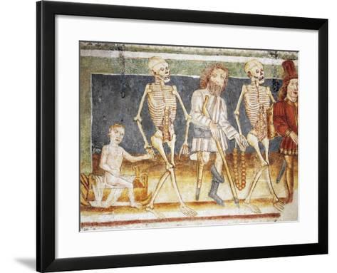 Hrastovlje Fortified Church, Trinity Church, Death Accompanying Child and Poor, Dance of Death--Framed Art Print