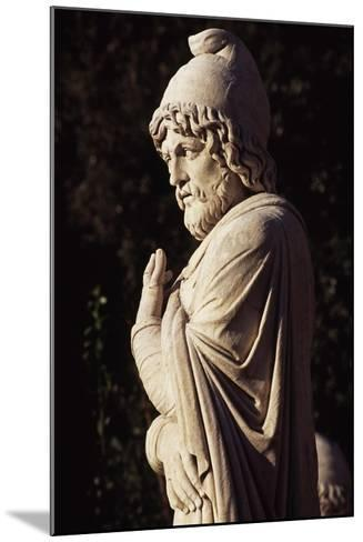 Italy, Lazio, Rome, Statue in Eastern Exedra of Piazza Del Popolo, Designed by Giuseppe Valadier--Mounted Giclee Print