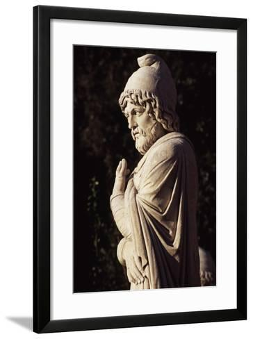 Italy, Lazio, Rome, Statue in Eastern Exedra of Piazza Del Popolo, Designed by Giuseppe Valadier--Framed Art Print