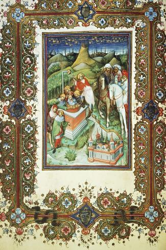 The Brothers Selling Joseph, Miniature by Belbello of Pavia, from the Visconti Book of Hours--Stretched Canvas Print