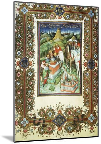The Brothers Selling Joseph, Miniature by Belbello of Pavia, from the Visconti Book of Hours--Mounted Giclee Print