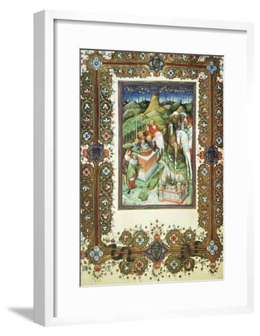 The Brothers Selling Joseph, Miniature by Belbello of Pavia, from the Visconti Book of Hours--Framed Art Print