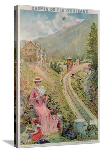 Poster Advertising the Resort of 'Le Lioran, Auvergne' with the 'Chemins De Fer D'Orleans', 1904--Stretched Canvas Print