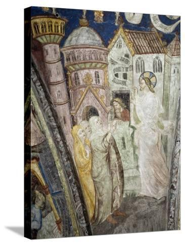 Teachings of Christ, Instructing Clerics, Fresco, Cloister, Santa Maria Assunta and San Cassiano--Stretched Canvas Print